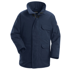 Bulwark® Large Regular Navy Nomex® Aramid Kevlar® Aramid Flame Resistant Jacket Meta-aramid Lining With Zipper Closure
