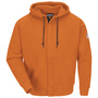 Bulwark® Medium Tall Orange Cotton Spandex Brushed Fleece Flame Resistant Hooded Sweatshirt With Zipper Closure