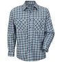 Bulwark® 3X Tall Teal And Brown Plaid Cotton Nylon Flame Resistant Work Shirt