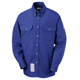 Bulwark® 2X Tall Royal Blue Cotton Nylon Flame Resistant Work Shirt With Button Closure