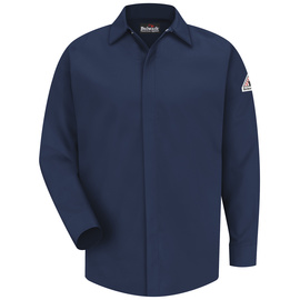 Bulwark® Large Regular Navy Modacryclic® Lyocell Aramid Flame Resistant Work Shirt