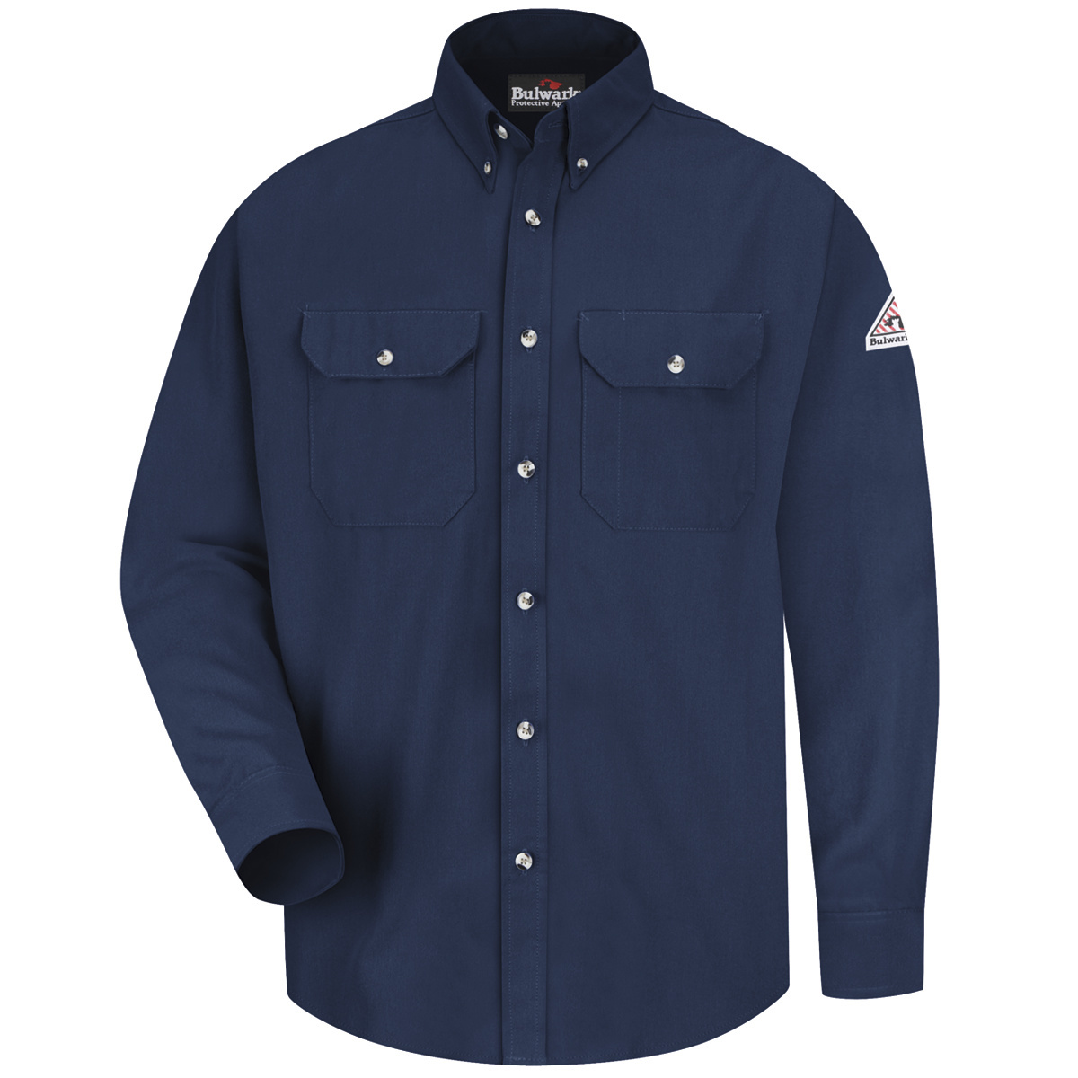 Airgas r30smu2nvlnxl bulwark x large tall navy cool for Bulwark flame resistant shirts