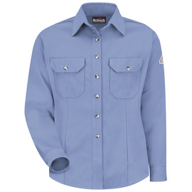 Bulwark® 2X Regular Blue Modacryclic® Lyocell Aramid Flame Resistant Work Shirt With Button Closure