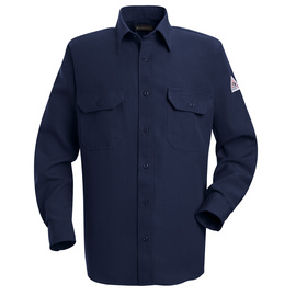 Bulwark® X-Large Tall Navy Nomex® Aramid Kevlar® Aramid Flame Resistant Work Shirt With Button Closure