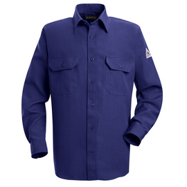Bulwark® 2X Tall Royal Blue Nomex® Aramid Kevlar® Aramid Flame Resistant Work Shirt With Button Closure