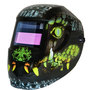 ArcOne® Carrera™ Black/Green/Gray/Yellow Welding Helmet Variable Shades 4, 9 - 13 Auto Darkening Lens, Shade Master® Professional Grade And Croc Graphics