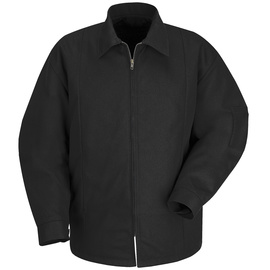 Red Kap X-Large Regular Black Polyester Lined 7.25 Ounce Polyester Cotton Jacket