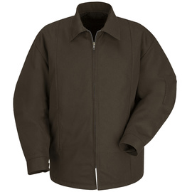 Red Kap Small Regular Brown Polyester Lined 7.25 Ounce Polyester Cotton Jacket