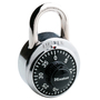 Master Lock® Silver/Black Stainless Steel Combination Security Padlock Hardened Steel Shackle