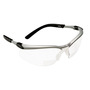 3M™ BX™ 2 Diopter Silver And Black Frame Safety Glasses With Clear Anti-Fog Lens