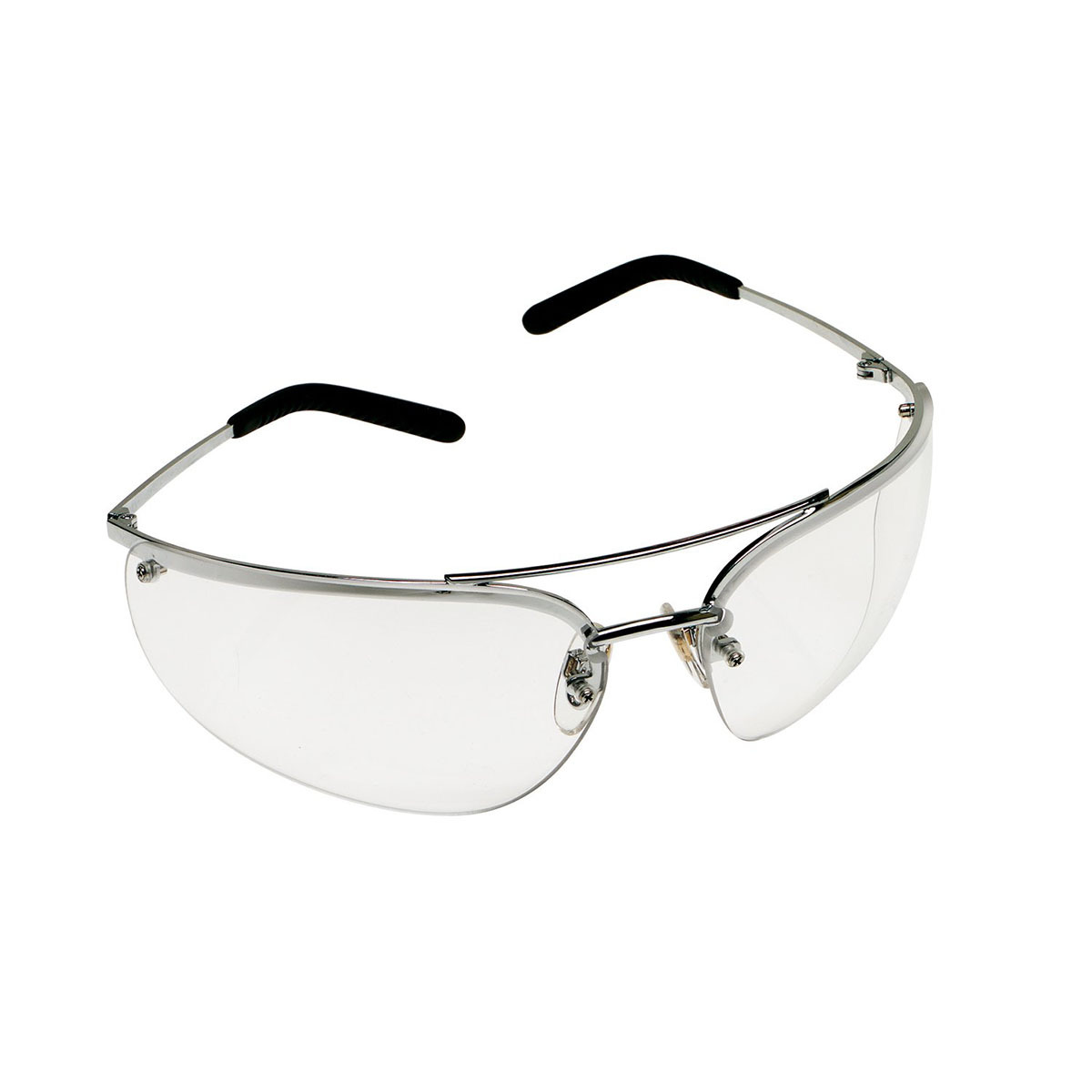 8870c024013 3M™ Metaliks™ Polished Metal Frame Safety Glasses With Clear Anti-Fog Lens