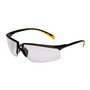 3M™ Privo™ Black Frame Safety Glasses With Mirror Anti-Fog, Indoor/Outdoor Mirror Lens