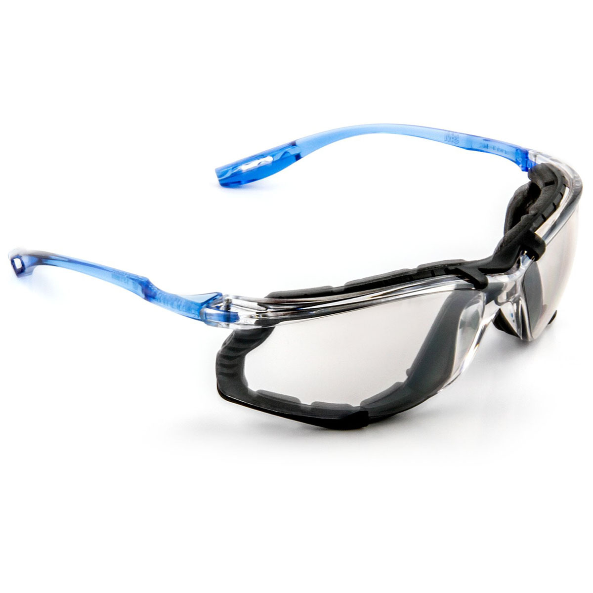 159fbea9301 3M™ Virtua™ Blue And Clear Frame Safety Glasses With Mirror Anti-Fog