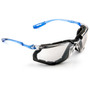 3M™ Virtua™ Blue And Clear Frame Safety Glasses With Mirror Anti-Fog, Indoor/Outdoor Mirror Lens