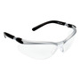 3M™ BX™ Silver And Black Frame Safety Glasses With Clear Anti-Fog Lens
