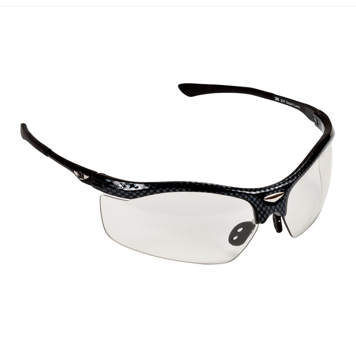 cb14cff4cb 3M™ Smart Lens™ Black Checkered Frame Safety Glasses With Photochromic  Anti-Scratch Lens
