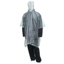 Tingley One Size Fits All Clear .10 mm PVC Waterproof Rain Poncho With Side Snap