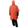 Tingley One Size Fits All Orange .10 mm PVC Waterproof Rain Poncho With Side Snap