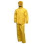 Tingley Large Yellow Industrial Work .35 mm PVC And Polyester 3-Piece Rain Suit With Jacket, Hood And Overalls