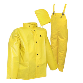 Tingley Large Yellow  DuraScrim™ 10.5 mil PVC And Polyester 3-Piece Rain Suit With Front Snap