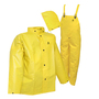 Tingley 4X Yellow  DuraScrim™ 10.5 mil PVC And Polyester 3-Piece Rain Suit With Front Snap