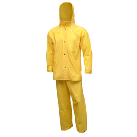 Tingley Large Gold  Tuff-Enuff™ 8 mil Single Ply PVC 3-Piece Rain Suit With Front Snap