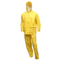 Tingley X-Large Yellow  Tuff-Enuff Plus™ 8 mil PVC And Nylon 2-Piece Rain Suit With Front Zipper
