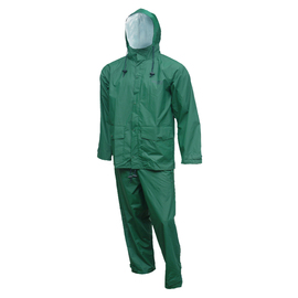 Tingley Large Forest Green Storm-Champ® .20 mm PVC And Nylon 2-Piece Rain Suit