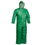 Tingley 2X Green SafetyFlex® 17 mil PVC And Polyester Coveralls Coveralls With Front Zipper