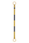 JBC™ 3 1/2' - 6' Black And Yellow ABS Plastic Cone Bar