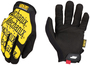 Mechanix Wear® Size 9 Black And Yellow The Original® Synthetic Leather And TrekDry® Full Finger Mechanics Gloves With Hook And Loop Cuff