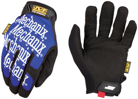 Mechanix Wear® Size 8 Black And Blue The Original® Synthetic Leather And TrekDry® Full Finger Mechanics Gloves With Hook And Loop Cuff
