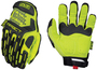 Mechanix Wear® Size 10 Hi-Viz Yellow M-Pact® Synthetic Leather And TrekDry® Full Finger Anti-Vibration Gloves With Hook And Loop Cuff