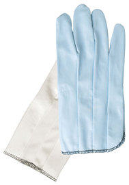 MCR Safety® Medium White Laminated Vinyl Work Gloves With White Vented Nylon Back Liner And Slip-On Cuff