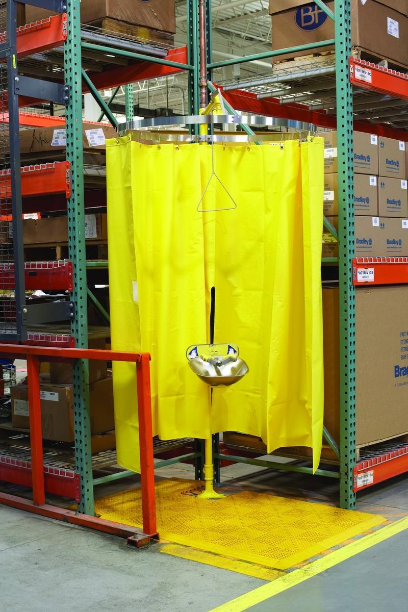 BradleyR Safety Shower Privacy Curtain Emergency Station