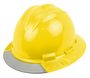 Bullard® Yellow AboveView ™ HDPE Full Brim Hard Hat With Flex-Gear® 4 Point Ratchet Suspension, Grey See-Through Visor And Cotton Brow Pad