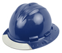 Bullard® Navy Blue AboveView ™ HDPE Full Brim Hard Hat With Flex-Gear® 4 Point Ratchet Suspension, Clear See-Through Visor And Cotton Brow Pad