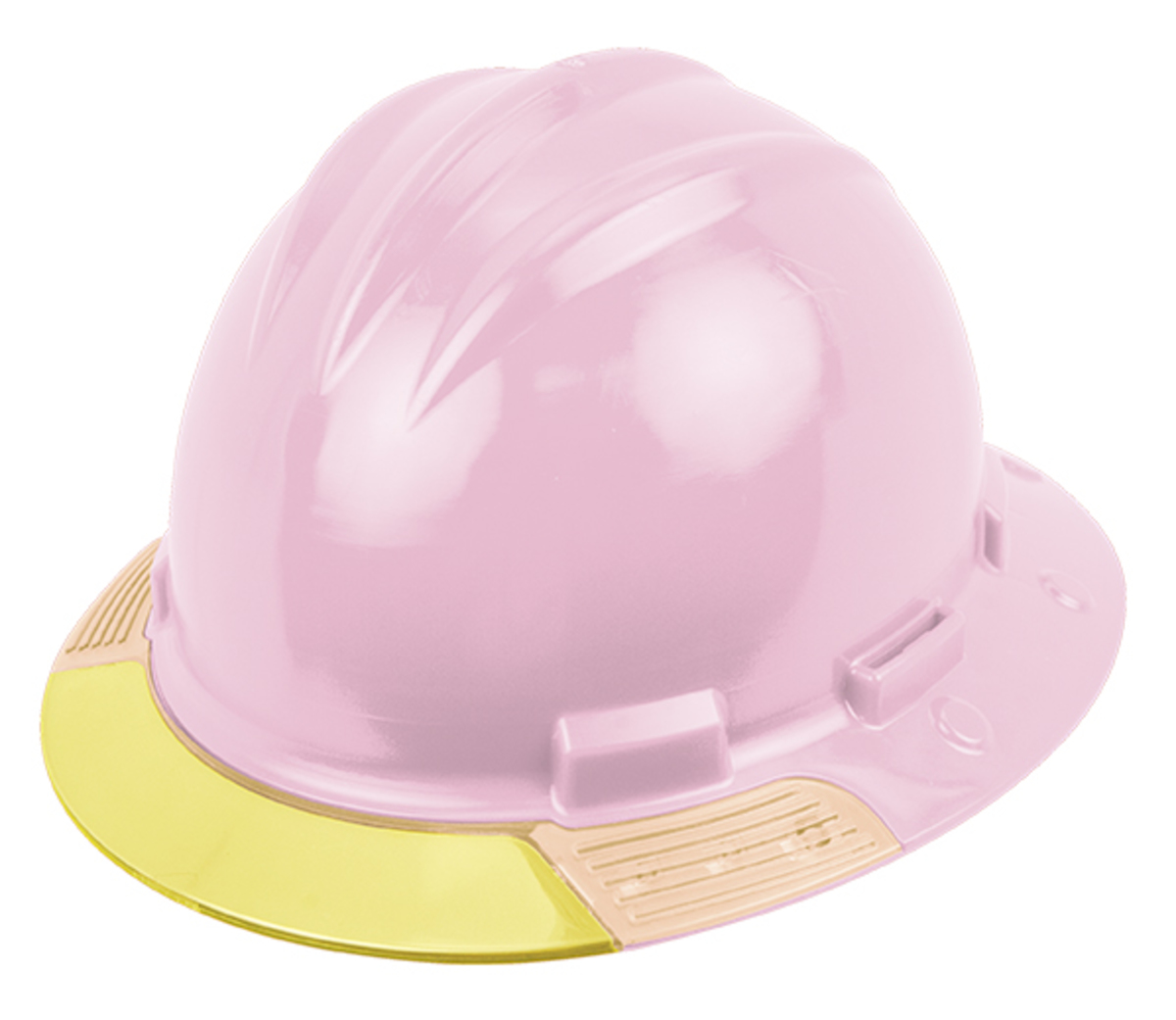 Bullard® Light Pink AboveView™ HDPE Full Brim Hard Hat With Flex-Gear® e52ed1500