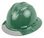 Bullard® Forest Green AboveView ™ HDPE Full Brim Hard Hat With Flex-Gear® 4 Point Ratchet Suspension, Grey See-Through Visor And Vinyl Brow Pad