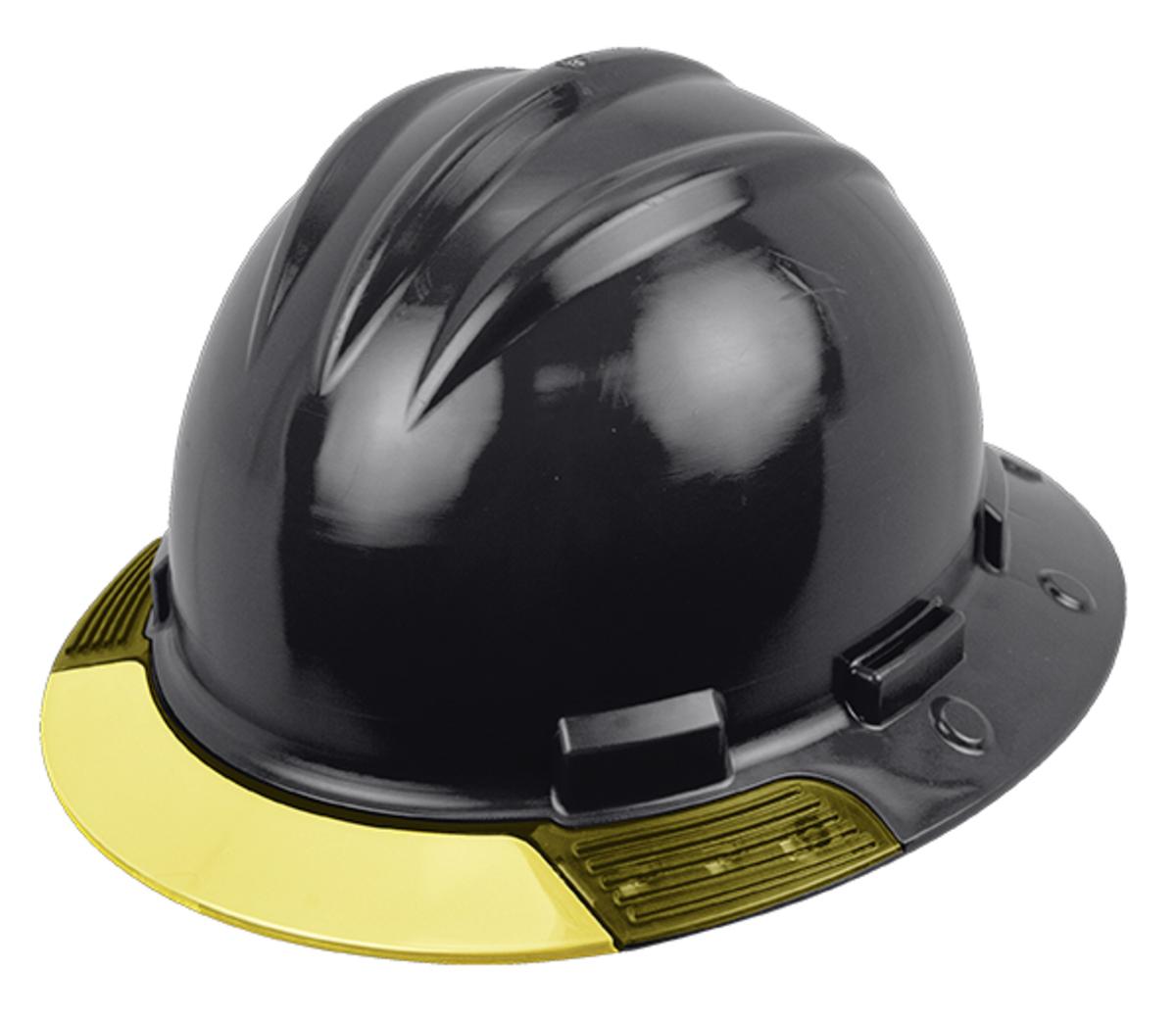 Bullard® Black AboveView™ HDPE Full Brim Hard Hat With Flex-Gear® 4 eb4747113