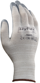 Ansell Size 7 HyFlex® 15 Gauge And Light Weight Foam Nitrile Work Gloves With Gray X-Static® Yarn Liner And Knit Wrist