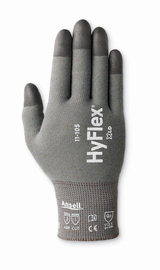 Ansell Size 9 HyFlex® 13 Gauge Polyurethane Work Gloves With Gray Polyamide Copper Fiber Liner And Knit Wrist Cuff