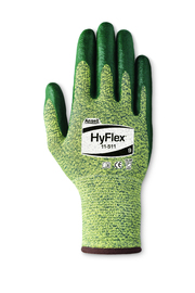 Ansell Size 2X HyFlex® 13 Gauge Foam Nitrile Work Gloves With Green Intercept Technology® With DuPont™ Kevlar® Liner And Knit Wrist