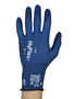 Ansell Size 9 HyFlex® 18 Gauge And Ultra Light Weight Foam Nitrile And FORTIX™ Work Gloves With Blue Nylon And Spandex® Liner And Knit Wrist Cuff