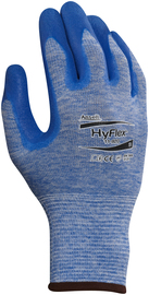 Ansell Small HyFlex® 15 Gauge/Medium Weight Nitrile Work Gloves With Blue Nylon Liner And Knit Wrist