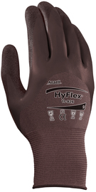 Ansell Large HyFlex® 18 Gauge Nitrile/Neoprene 3/4 Dip/Palm Coated Work Gloves With Purple Nylon/Spandex Liner And Elastic Wrist