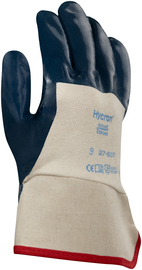 Ansell Size 8 Hycron® Heavy Weight Nitrile Work Gloves With Blue Jersey Liner And Safety Cuff
