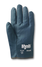 Ansell Size 7 Hynit® Medium Weight Nitrile Work Gloves With Blue Cotton Interlock Knit Liner And Slip-On Cuff
