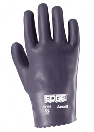 Ansell Size 8.5 Edge® Medium Weight Foam Nitrile Work Gloves With Gray Interlock Cotton Liner And Slip-On Cuff