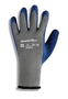 Ansell Size 6 PowerFlex® Heavy Weight Latex And Natural Rubber Work Gloves With Blue And Gray Cotton And Knit And Polyester Liner And Knit Wrist